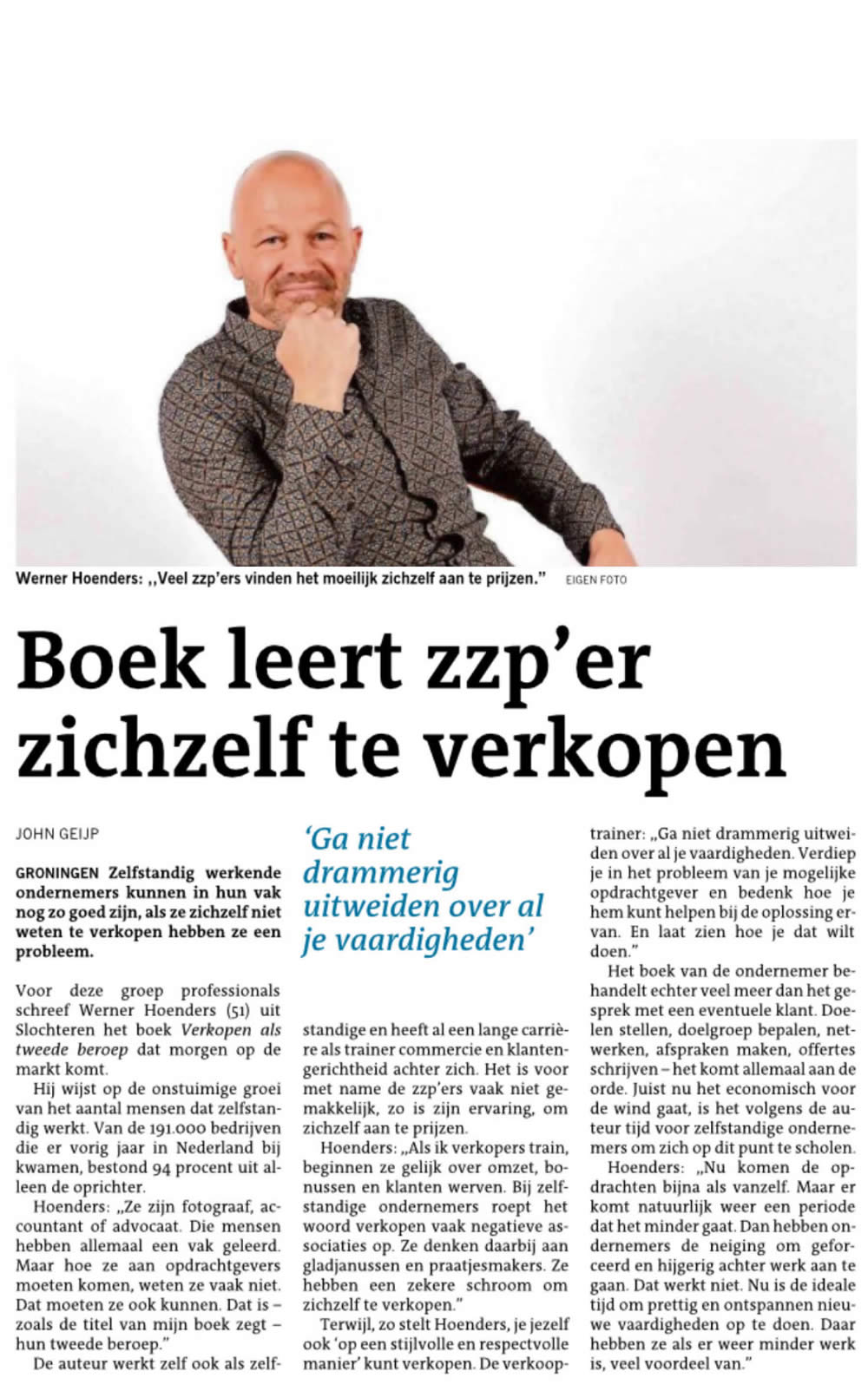 Boek Werner Hoenders